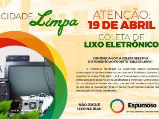 LIXO ELETRÔNICO – 19 de Abril terá recolhimento especial.