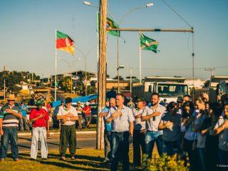 Manifestação em apoio aos caminhoneiros