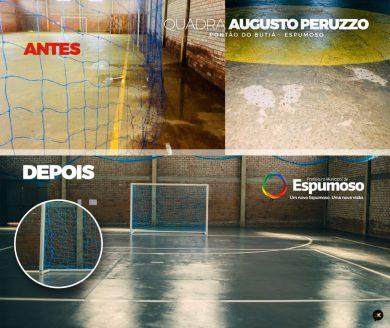 Educação   Escola Municipal Augusto Peruzzo Inaugura Quadra de Esportes