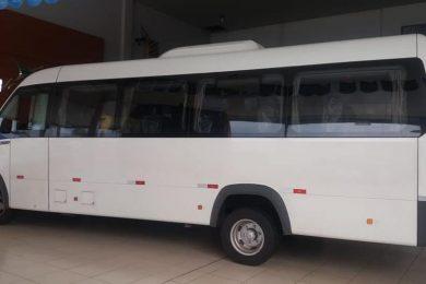 SAÚDE   Prefeitura Municipal adquire um novo MICRO ÔNIBUS para transporte de pacientes.