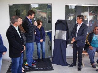 Prefeitura inaugura o ESF Wilmar Schmitt no Bairro Martini.