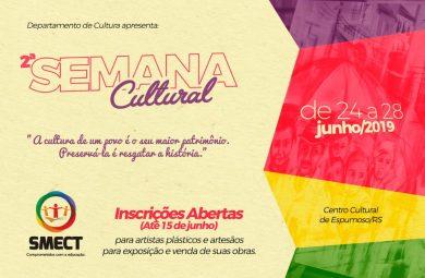 CULTURA | Vem aí a 2ª Semana Cultural da SMECT.