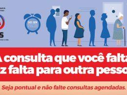 """SAÚDE I Campanha """"A consulta que você falta faz falta para alguém"""""""