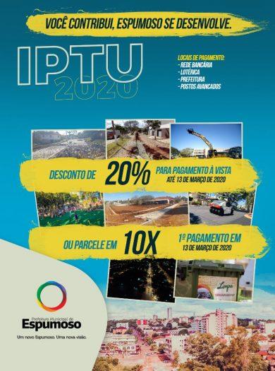 IPTU | Contribua com o desenvolvimento de Espumoso