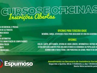 CURSOS E OFICINAS | Assistência Social e CRAS promovem capacitações.