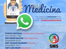 SAUDE I Novas diretrizes da SMS de Espumoso para prevenção ao coronavirus