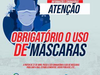 SAÚDE I Uso de máscaras passa ser obrigatório para todos em Espumoso