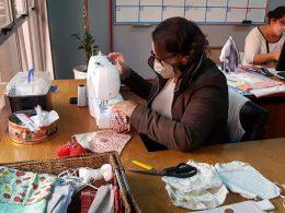 PARCEIROS DA SAÚDE I Departamento de Cultura confecciona centenas de máscaras