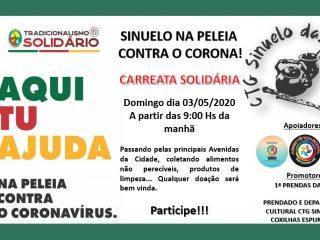 PARCEIROS DA SAÚDE I Neste domingo, dia 03, acontece a carreata solidária do CTG Sinuelo das Coxilhas