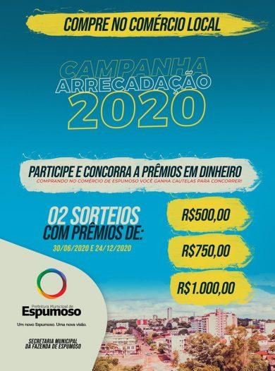 FAZENDA I Os prêmios do primeiro sorteio da Campanha de Arrecadação 2020 foram entregues