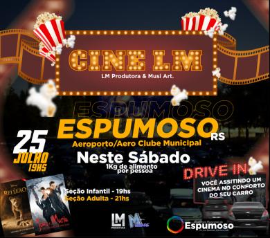 ADMINISTRAÇÃO I Espumoso terá exibição de cinema no sistema Drive-in