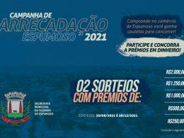 FAZENDA I Participe da Campanha de Arrecadação Espumoso 2021, serão 2 sorteios
