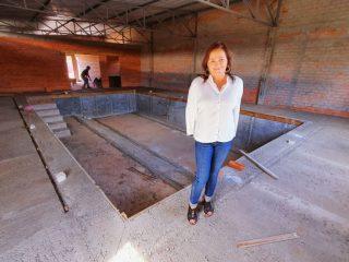 ASSISTÊNCIA SOCIAL I Obras das piscina térmica estão adiantadas