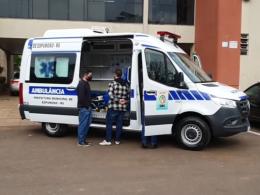 Espumoso recebe ambulância que será transformada em UTI Móvel