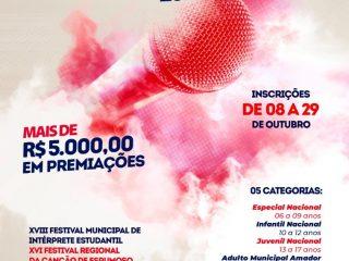 Abertas as inscrições para o Festival da Canção 2021 de Espumoso